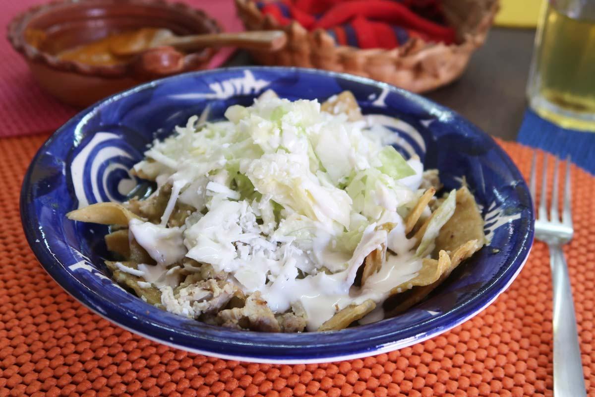 Chilaquiles in Mérida Mexiko