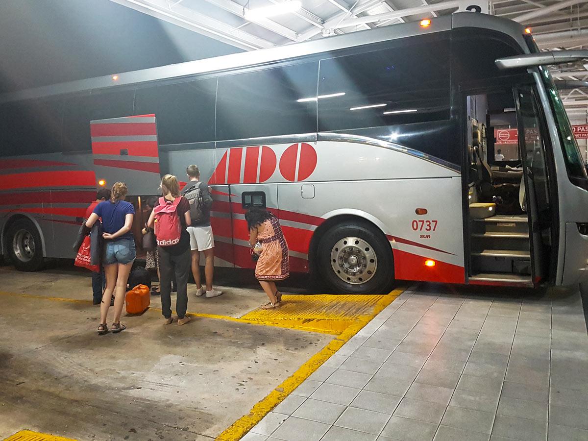 ADO, der moderne Reisebus in Mexiko