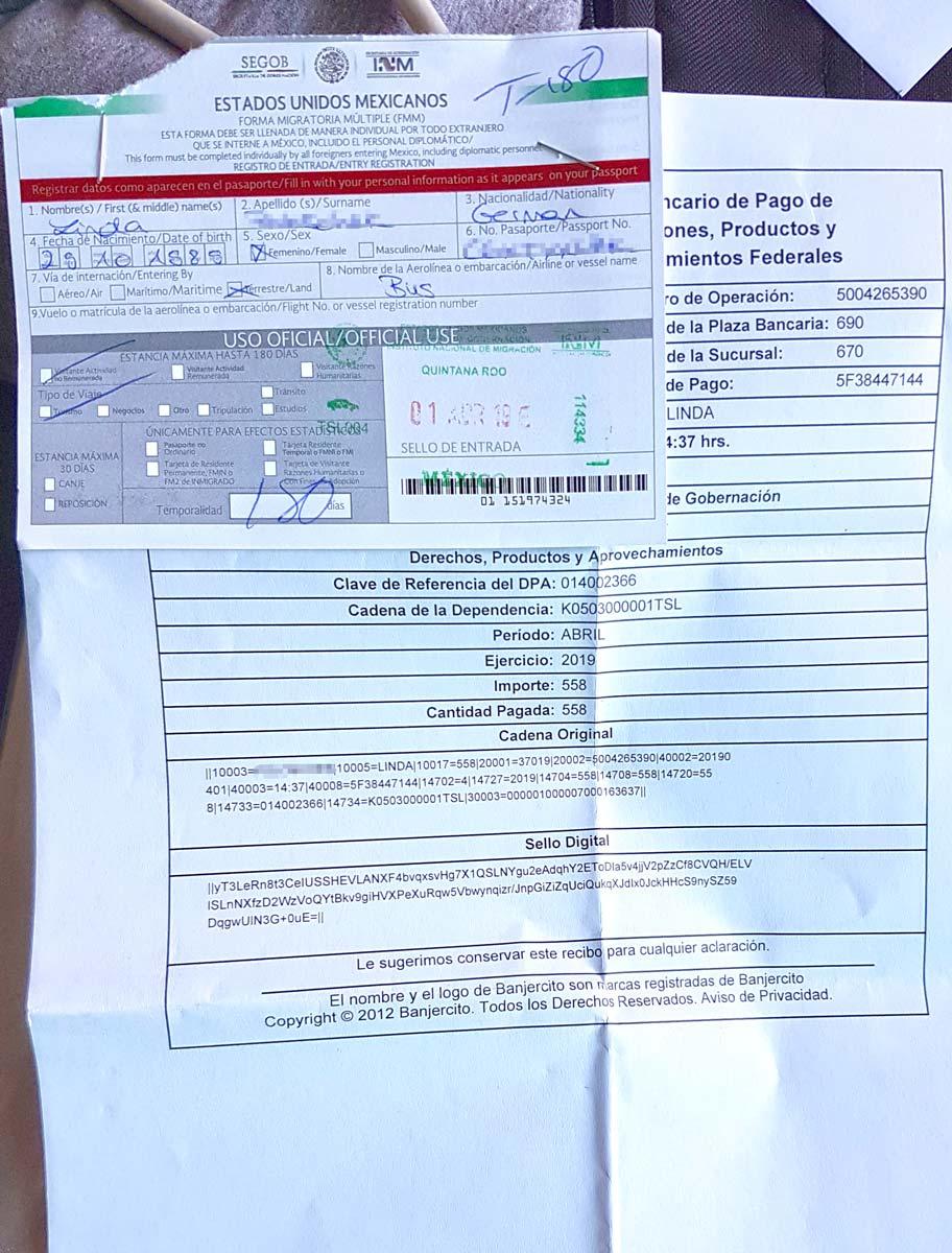 Einreisedokumente für Mexiko