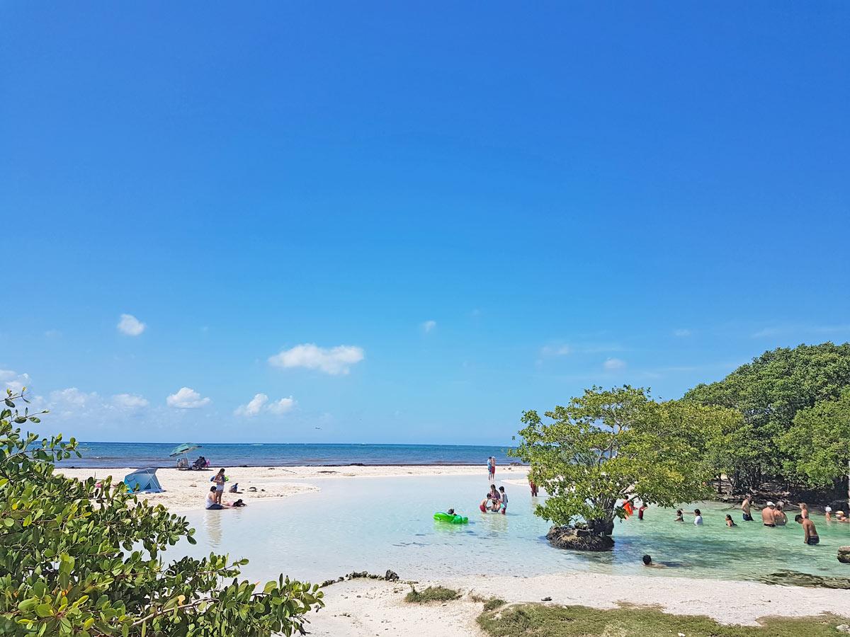 Perfekte Wetterbedingungen am Karibischen Meer in Mexiko
