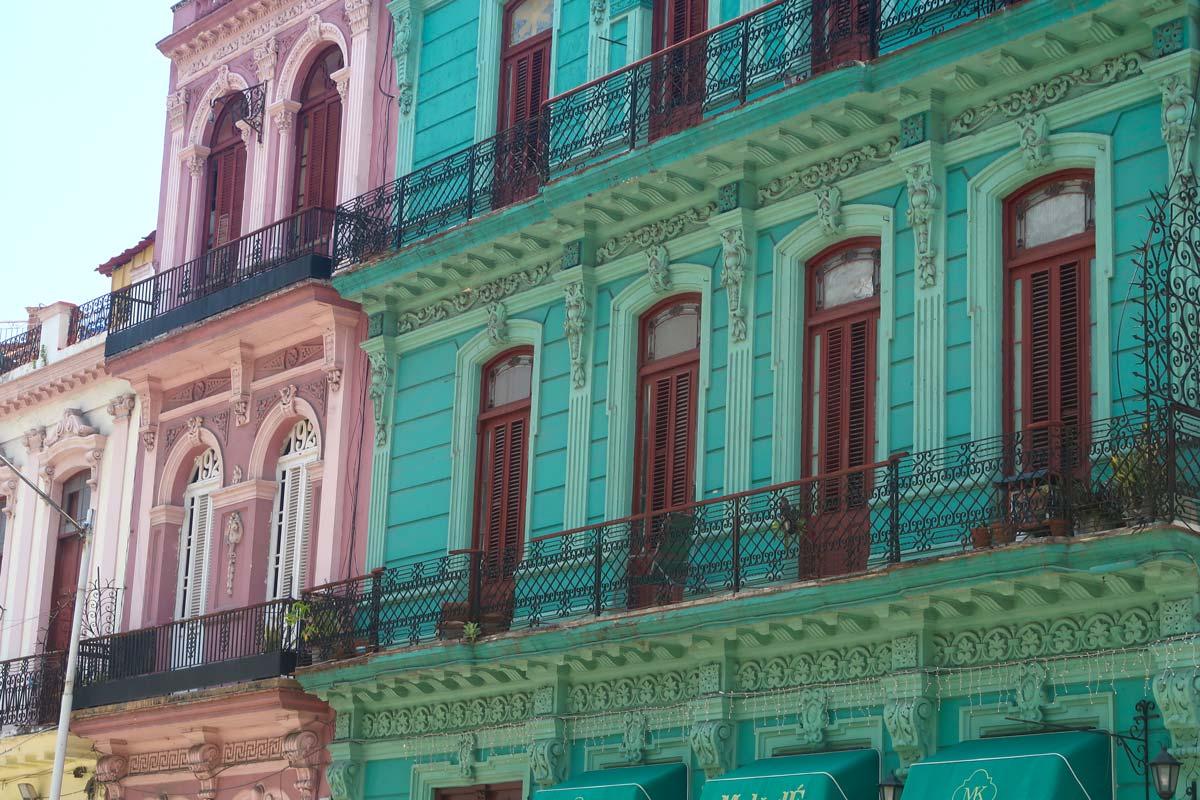 Kubanische Häuser in Old Havana