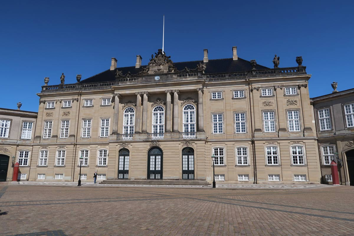 Palast des Schloss Amalienborg