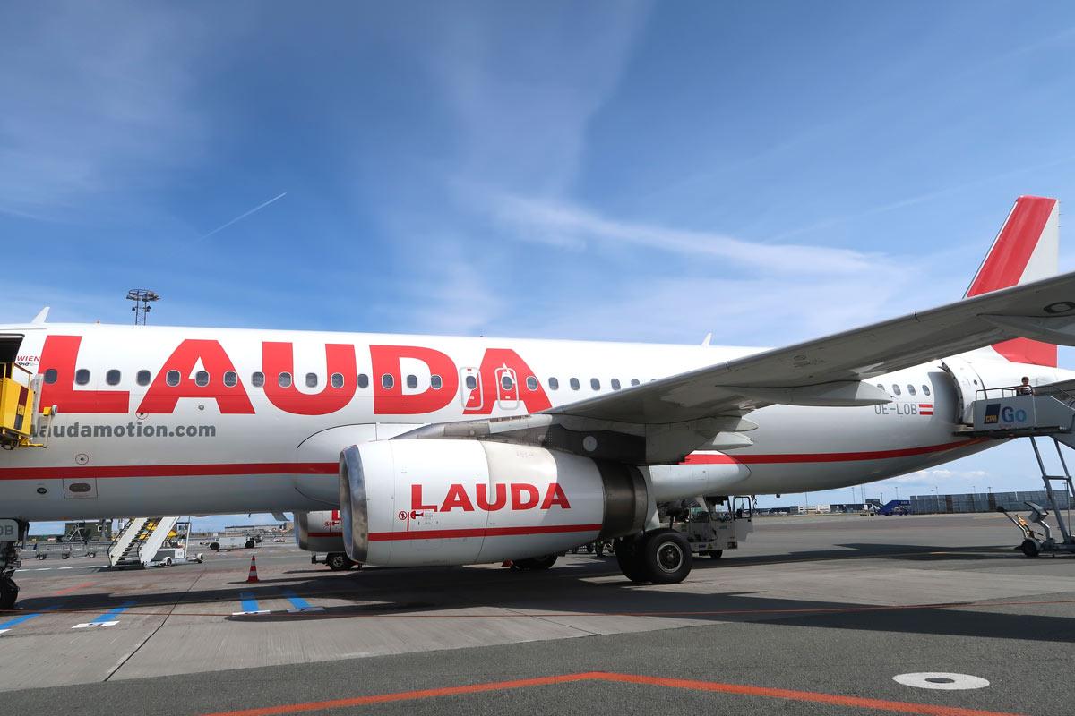 Lauda Motion Flugzeug in Düsseldorf
