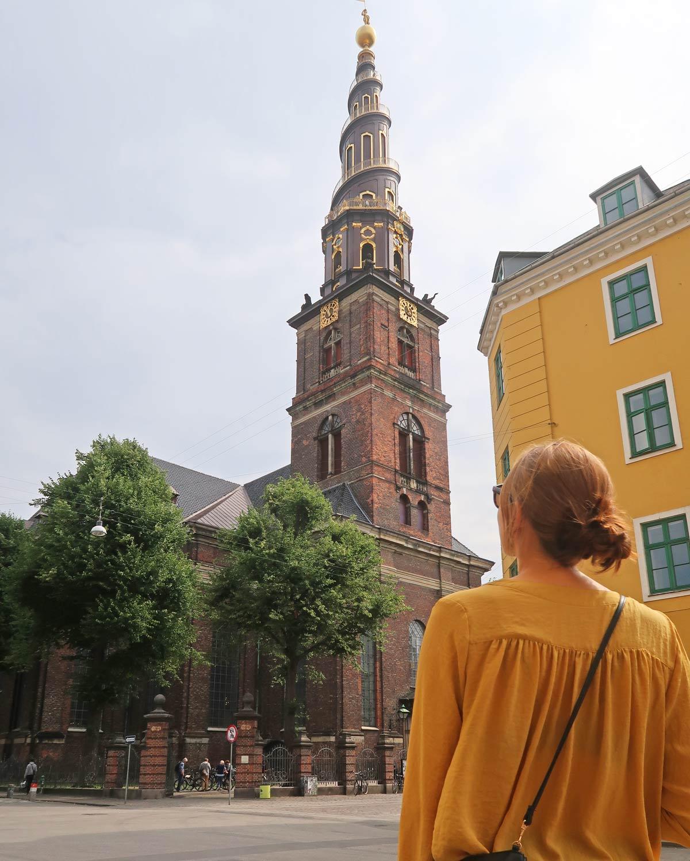 Blick auf die Frelsers Kirke