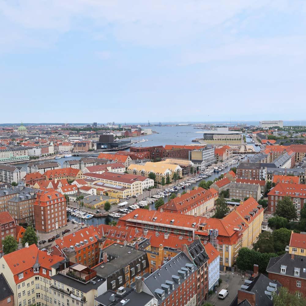 Ausblick von der Frelsers Kirche in Kopenhagen