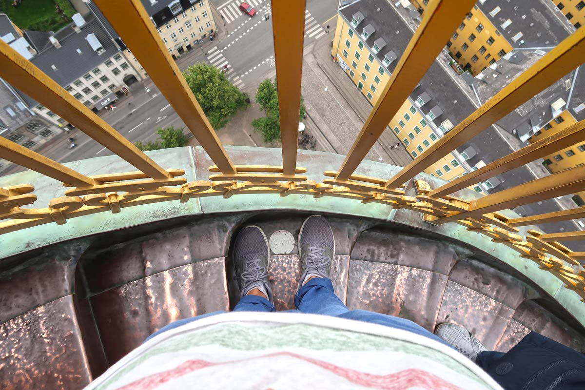 Höhe und Ausblick Frelsers Kirke