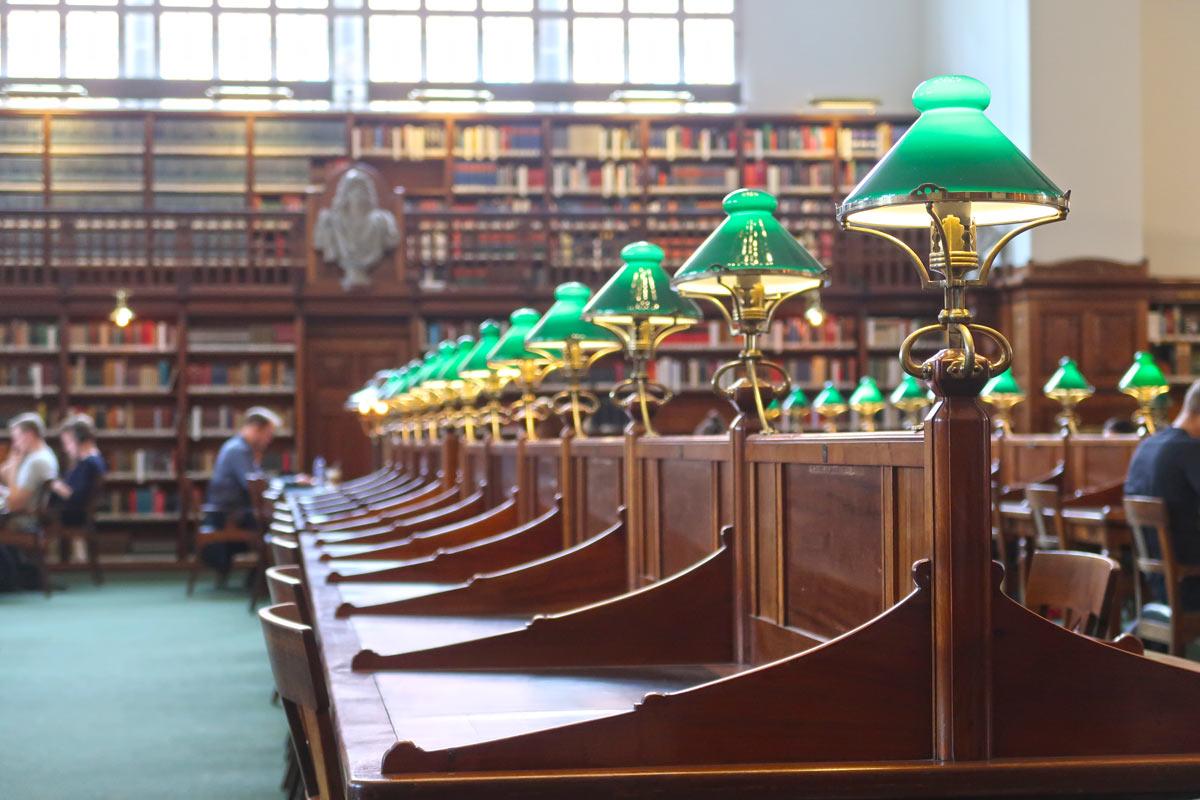 Die Dänische Königliche Bibliothek Lesesaal