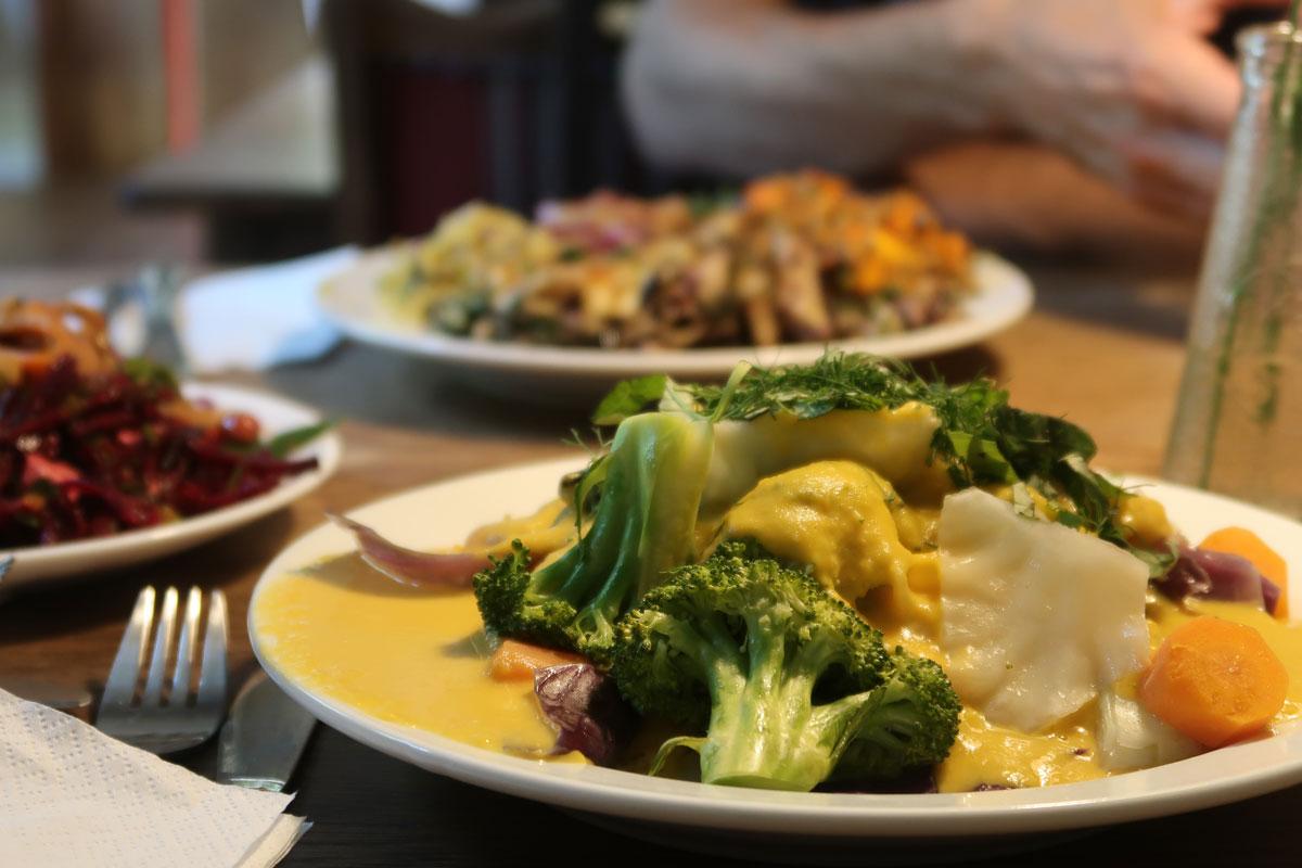 Veganes Essen im Restaurant Morgenstedt