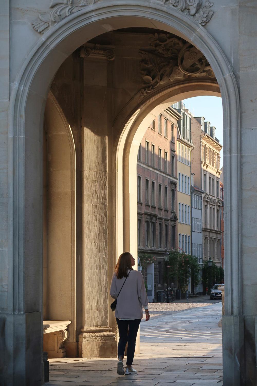 Torbogen an der Christiansborg Schlosskirche