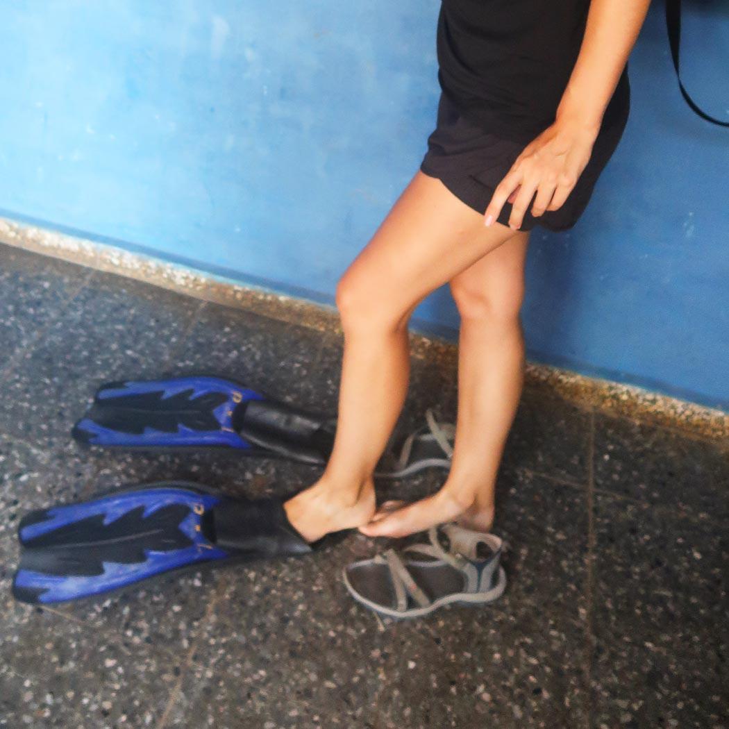 Equipment für die Tauchtour in Kuba