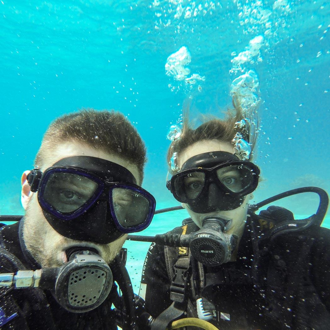 Playa Larga Tauchen Selfie