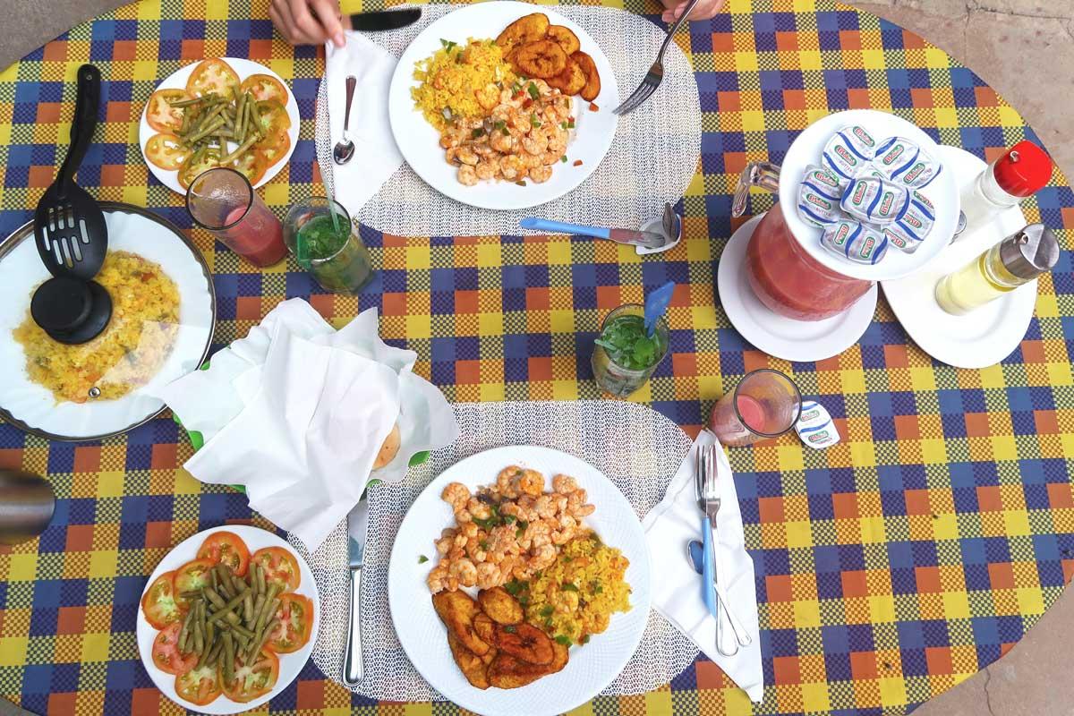 Essen in einem Casa Particular in Trinidad Kuba