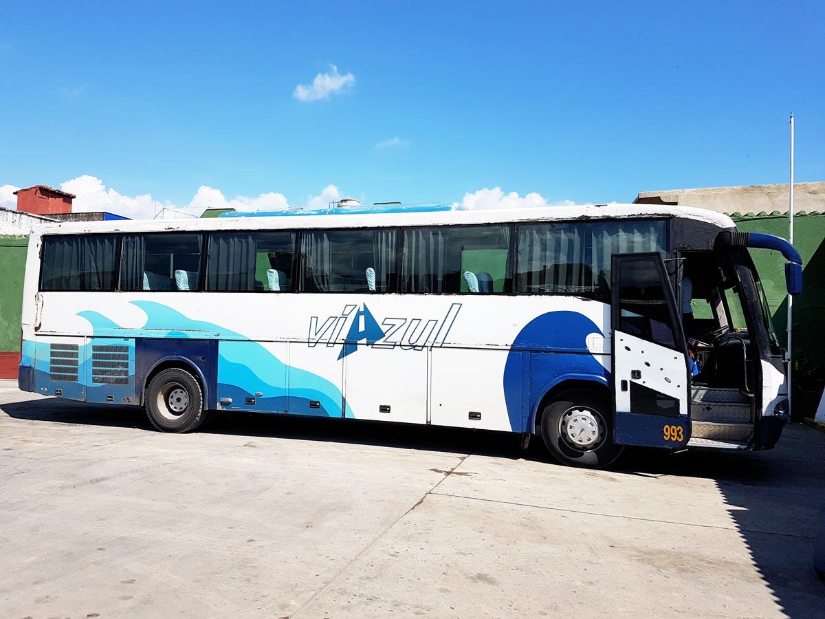 Viazul, der kubanische Reisebus steuert auch Trinidad Kuba an