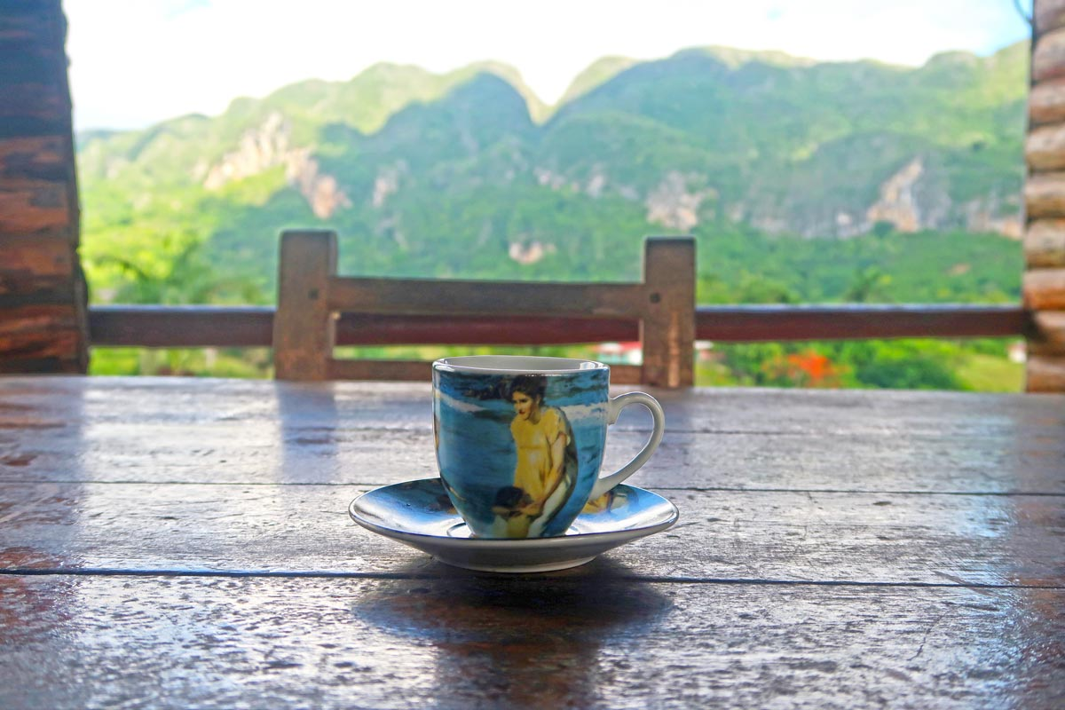 Kaffeepause am Mirador Bella Vista in Vinales