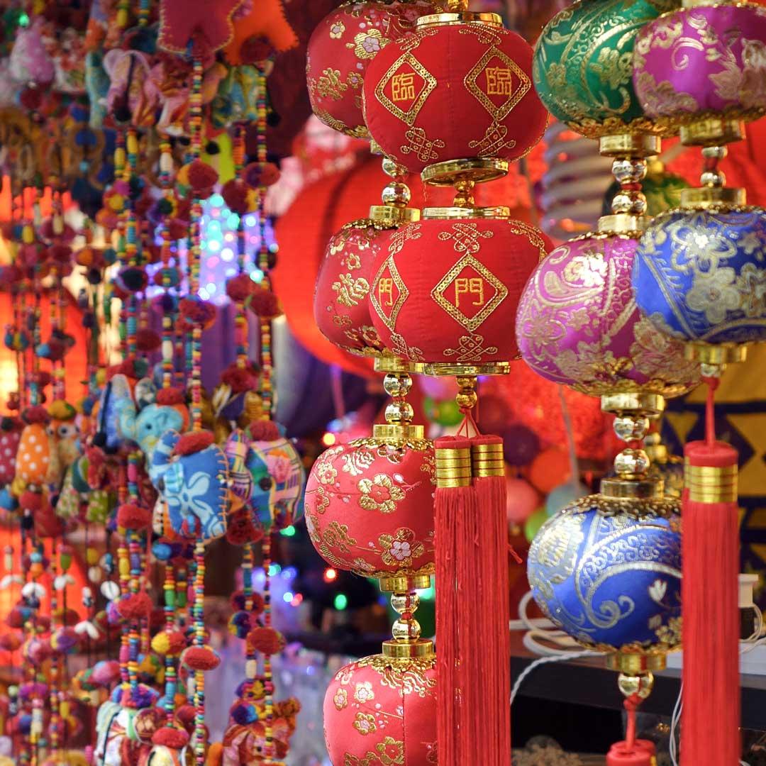 Chinesischer Vibe in Chinatown, Singapur