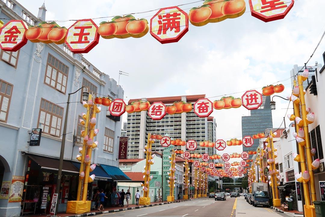 Das lebhafte chinesische Viertel in Singapur