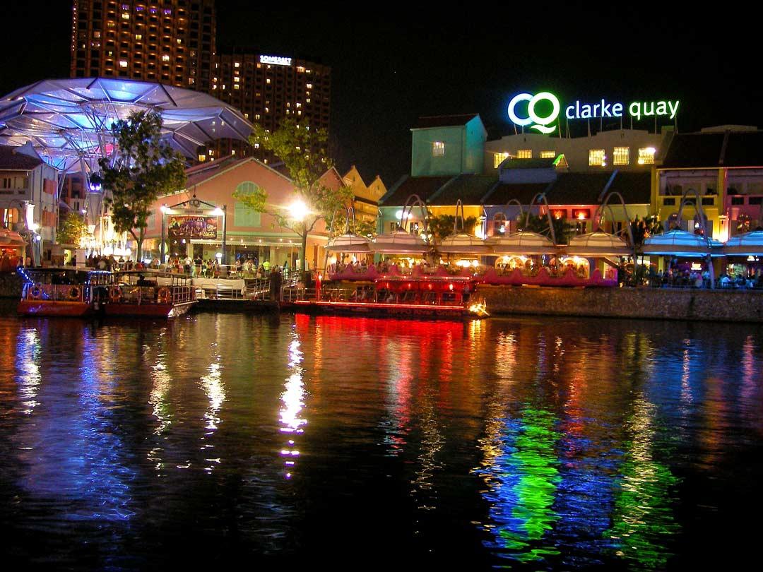 Clarke Quay, das Ausgehviertel in Singapur