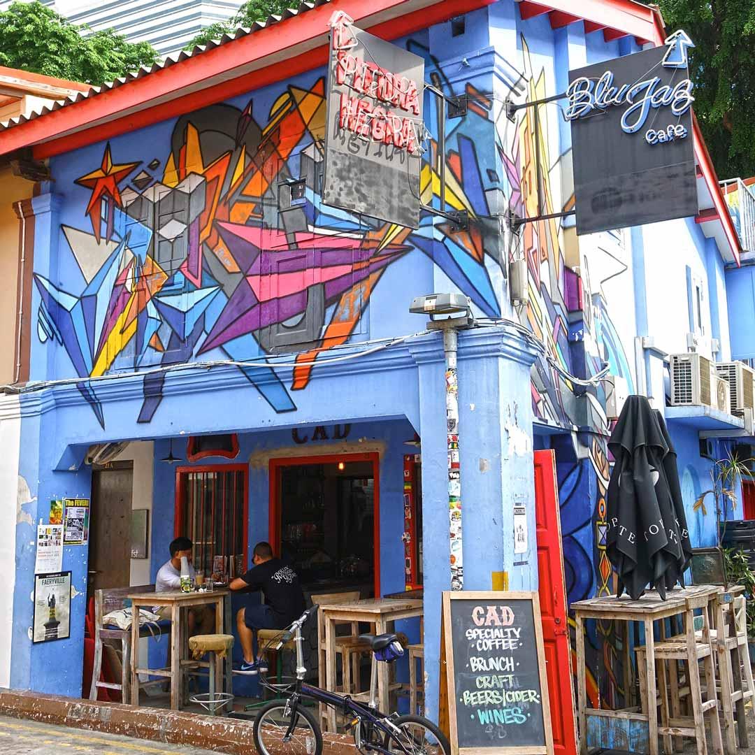 Blu Jaz Cafe in Kampong Glam, Singapur