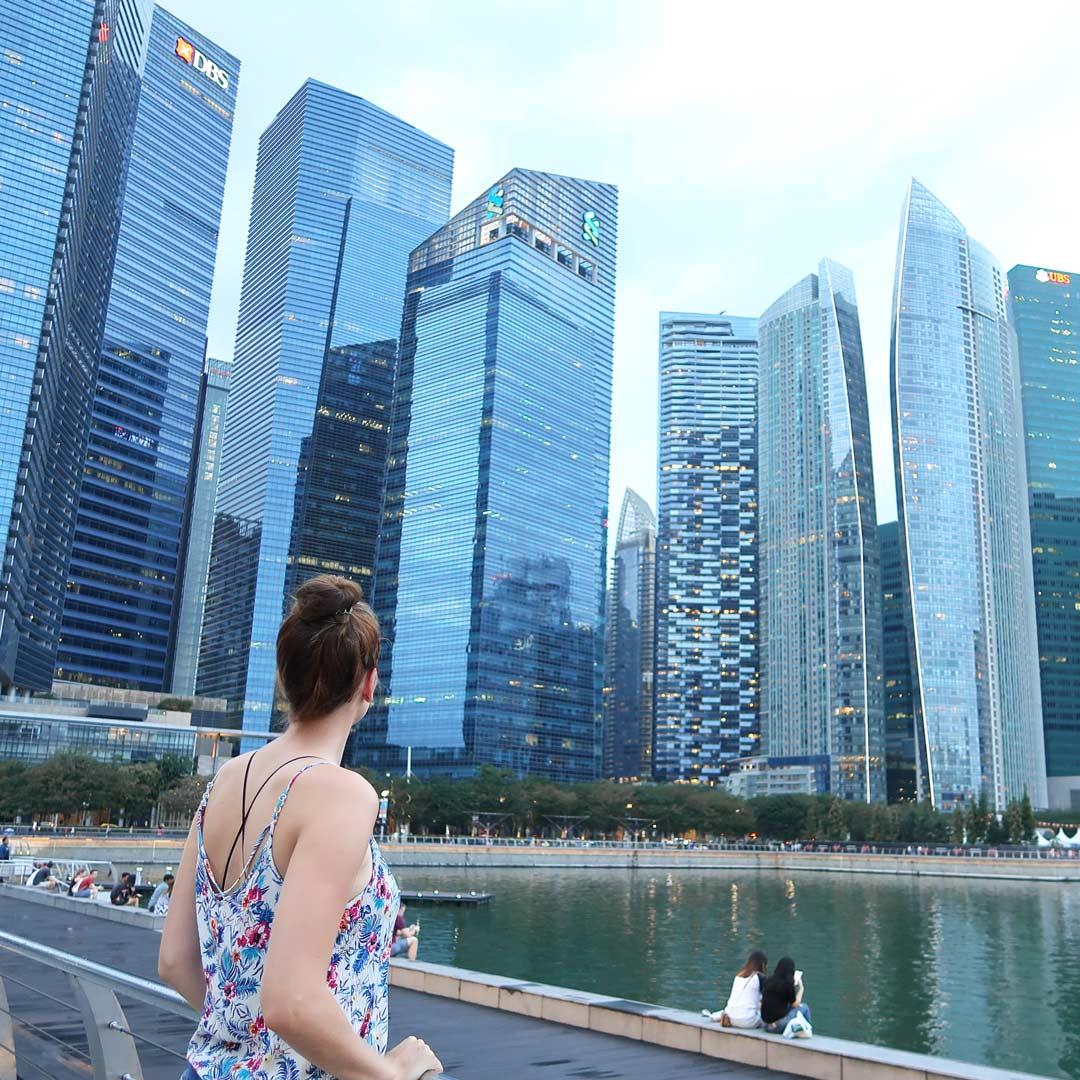 Unzählige Hochhäuser im Inselstaat Singapur