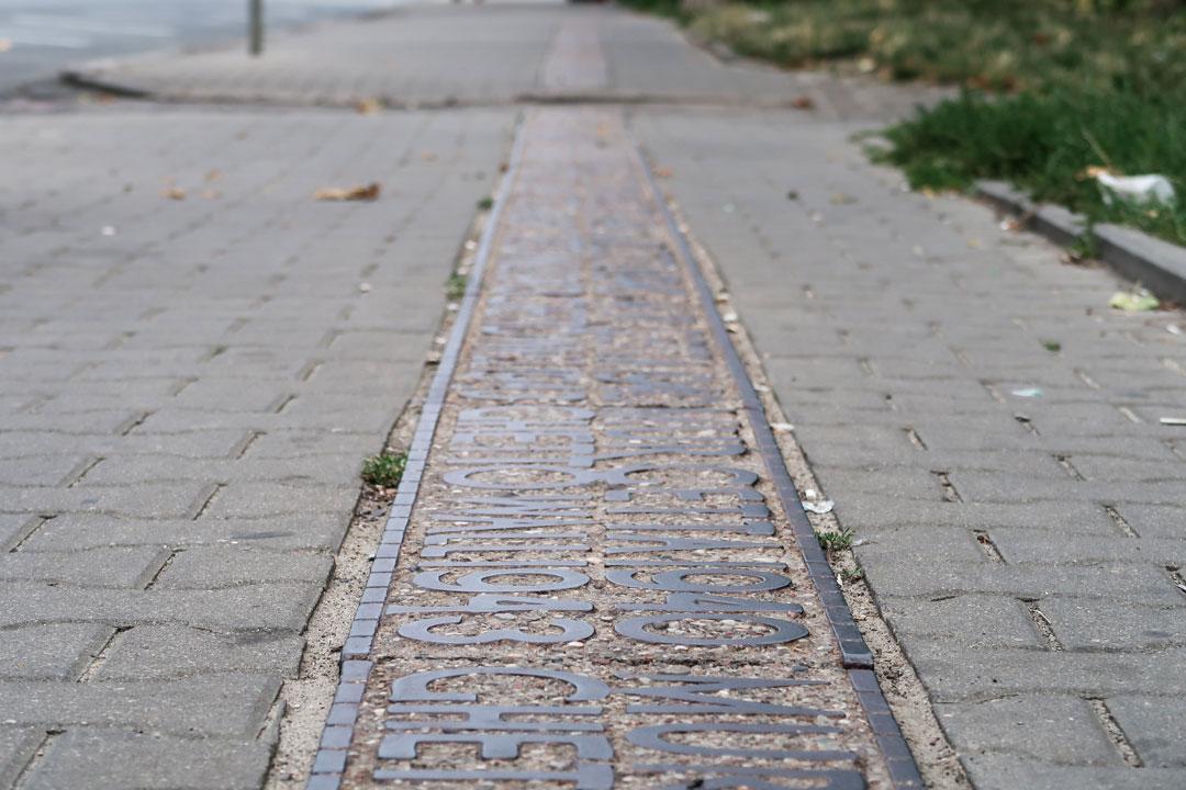 Denkmal Ghettomauer Warschau