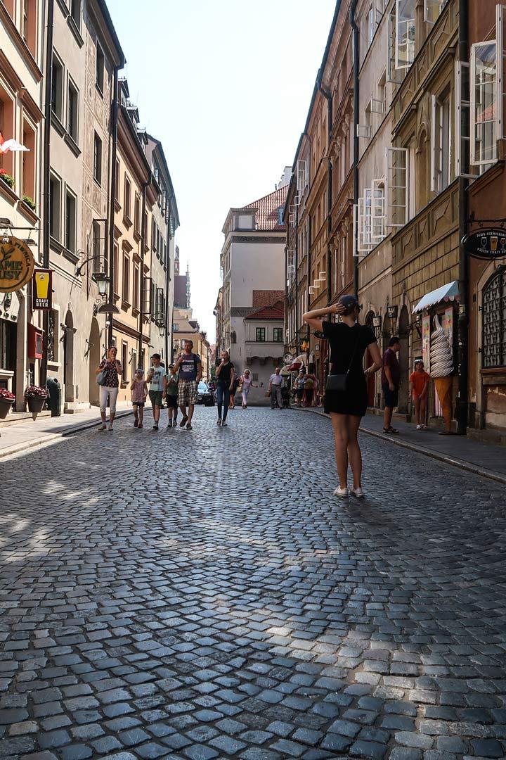 Altstadt Warschau Gassen