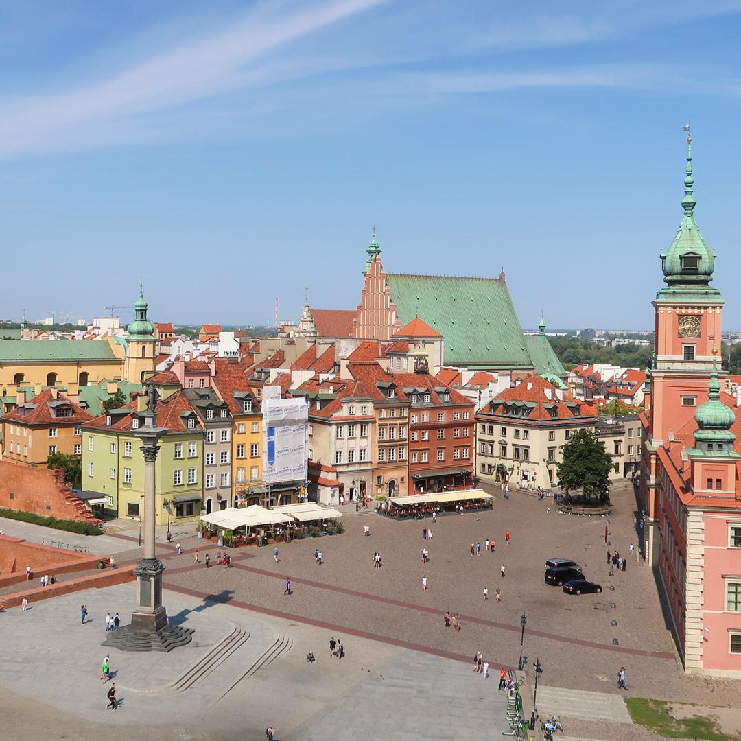 Warschau Schlossplatz