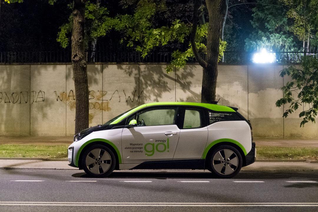 Innogy Elektroauto in Warschau