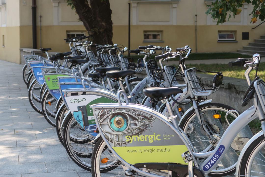 Leihräder in Warschau