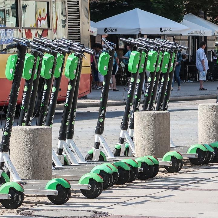 Lime Transport in Polen