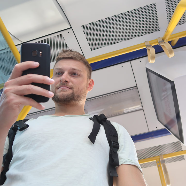 Ticket per App kaufen in Polen Tram