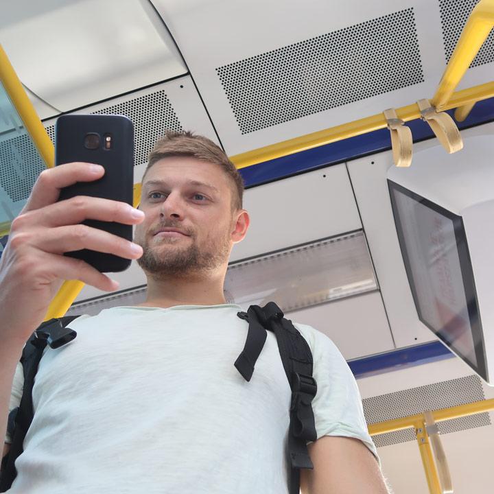 Ticket per App kaufen in Polen Tram