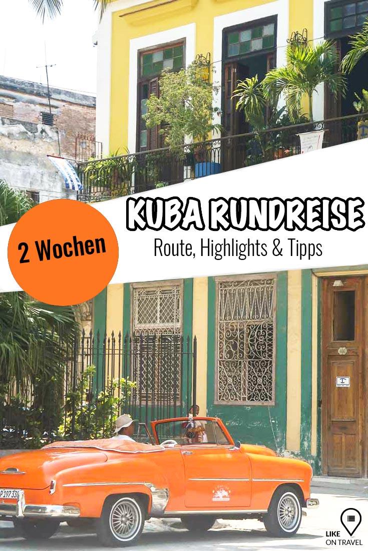 KUBA – der Inselstaat im Karibischen Meer. Klingt nicht nur paradiesisch – ist es auch! Die ideale Route, die besten Highlights und geniale Tipps für deine zweiwöchige Rundreise! #kuba #amerika #rundreise #karibik #kubareise #urlaubaufkuba #tippsfürkuba #kubatipps #karibikurlaub #reisetipps #highlights #reiseblog #likeontravel