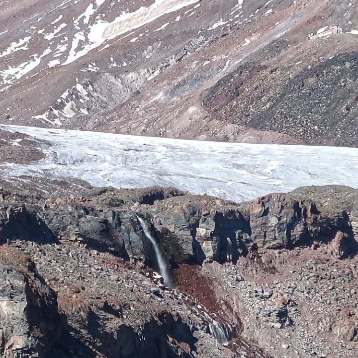 Kasbek Gletscher