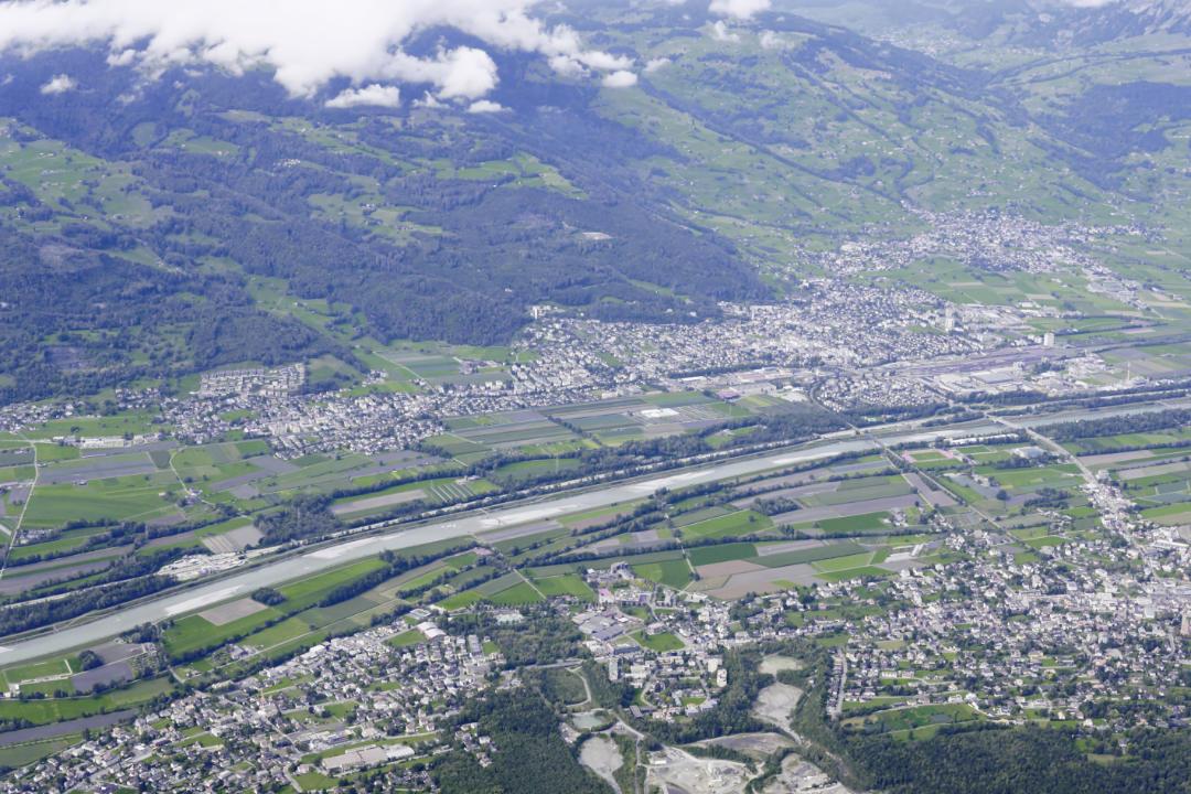 Liechtenstein von oben