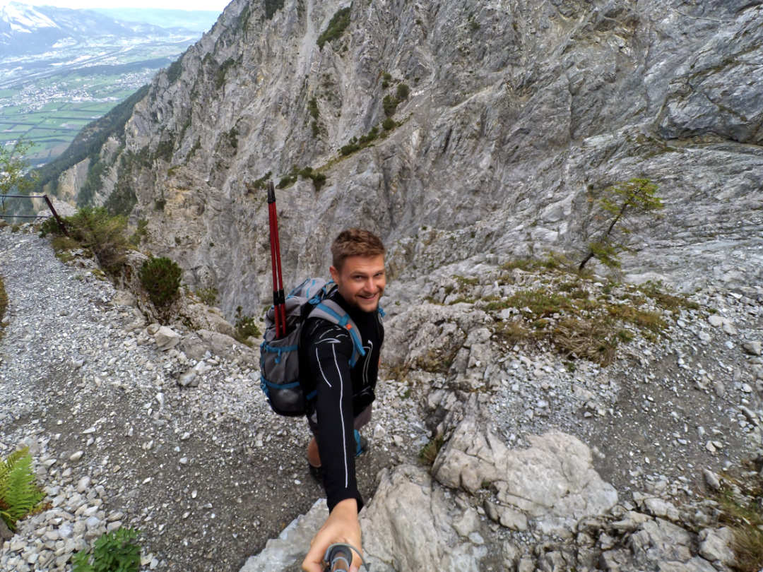 Selfie bei einer Wanderung in Liechtenstein