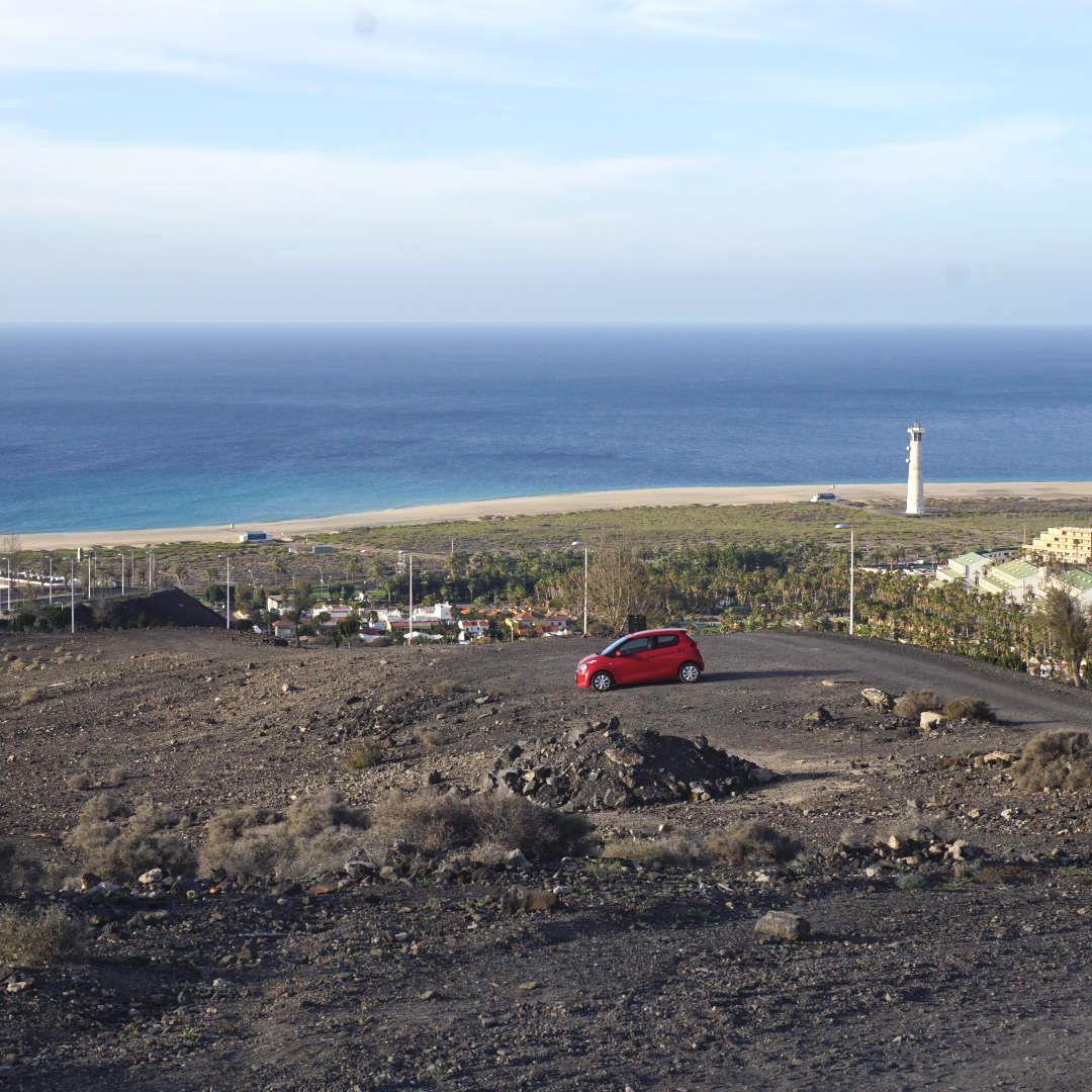 Wasserreservoir Parkplatz Pico de la zarza